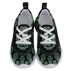 Fractal Green Lace Pattern Circle Running Shoes