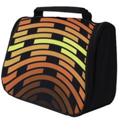 Fractal Orange Texture Waves Full Print Travel Pouch (big)