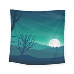 Landscape Wallpaper Background Square Tapestry (small)