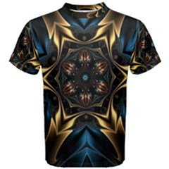 Pattern Texture Copper Teal Design Men s Cotton Tee