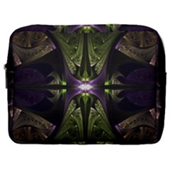 Fractal Green Tin Pattern Texture Make Up Pouch (large)