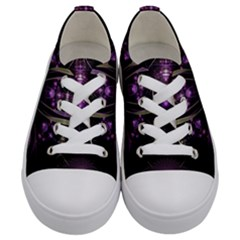 Fractal Purple Elements Violet Kids  Low Top Canvas Sneakers