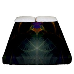 Fractal Colorful Pattern Design Fitted Sheet (queen Size)