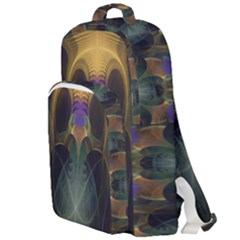 Fractal Colorful Pattern Design Double Compartment Backpack