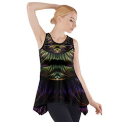 Fractal Colorful Pattern Fantasy Side Drop Tank Tunic