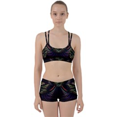 Fractal Colorful Pattern Fantasy Perfect Fit Gym Set