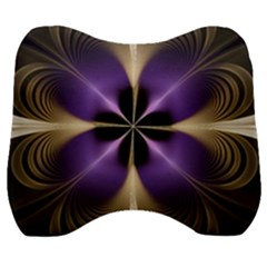 Fractal Glow Flowing Fantasy Velour Head Support Cushion