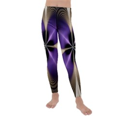 Fractal Glow Flowing Fantasy Kids  Lightweight Velour Leggings