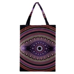 Fractal Pink Eye Fantasy Pattern Classic Tote Bag