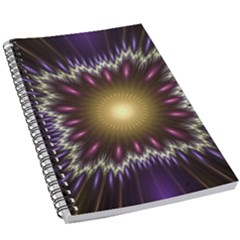 Fractal Rays Geometry Space Glow 5 5  X 8 5  Notebook New by Wegoenart