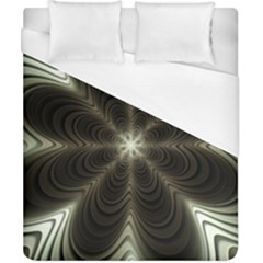Fractal Silver Waves Texture Duvet Cover (california King Size) by Wegoenart