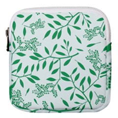 Leaves Foliage Green Wallpaper Mini Square Pouch by Wegoenart
