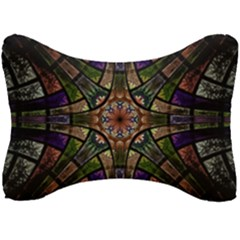 Fractal Detail Elements Pattern Seat Head Rest Cushion by Wegoenart
