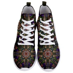 Fractal Detail Elements Pattern Men s Lightweight High Top Sneakers
