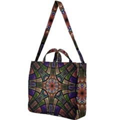 Fractal Detail Elements Pattern Square Shoulder Tote Bag