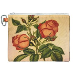 Vintage Flowers Floral Vintage Canvas Cosmetic Bag (xxl)