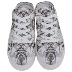 Fractal Delicate Intricate Half Slippers