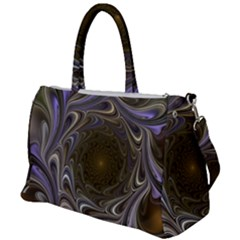 Fractal Waves Whirls Modern Duffel Travel Bag