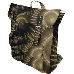 Fractal Steampunk Gears Fantasy Buckle Up Backpack