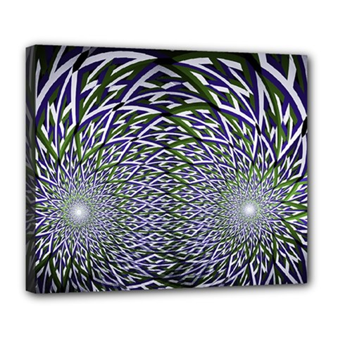 Fractal Mirror Flowers Deluxe Canvas 24  X 20  (stretched)