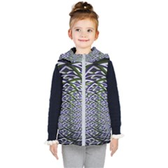 Fractal Mirror Flowers Kid s Hooded Puffer Vest by Wegoenart