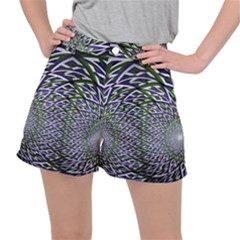 Fractal Mirror Flowers Stretch Ripstop Shorts