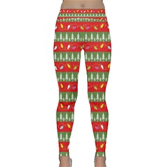 Christmas Papers Red And Green Classic Yoga Leggings