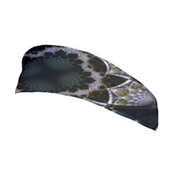 Fractal Aqua Silver Pattern Stretchable Headband
