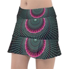 Fractal Circle Fantasy Texture Tennis Skirt
