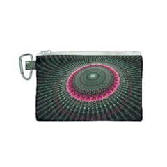 Fractal Circle Fantasy Texture Canvas Cosmetic Bag (small)