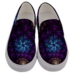 Geometry Fractal Colorful Geometric Men s Canvas Slip Ons