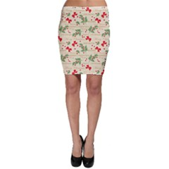 Christmas Paper Scrapbooking Bodycon Skirt