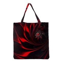 Abstract Curve Dark Flame Pattern Grocery Tote Bag