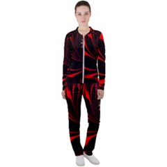 Abstract Curve Dark Flame Pattern Casual Jacket And Pants Set