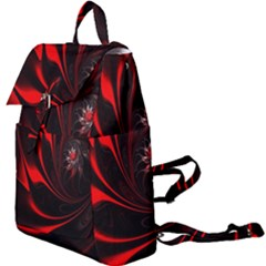 Abstract Curve Dark Flame Pattern Buckle Everyday Backpack by Wegoenart