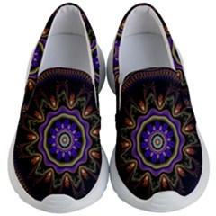 Fractal Vintage Colorful Decorative Kid s Lightweight Slip Ons