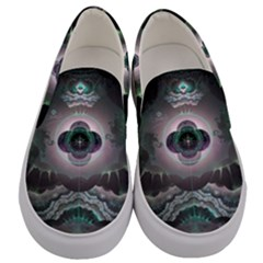 Fractal Pattern Texture Design Men s Canvas Slip Ons