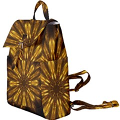 Mandala Gold Golden Fractal Buckle Everyday Backpack by Wegoenart