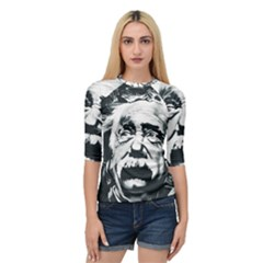 Albert Einstein Street Art Quarter Sleeve Raglan Tee