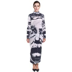 Albert Einstein Street Art Turtleneck Maxi Dress
