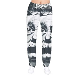 Albert Einstein Street Art Velvet Drawstring Pants