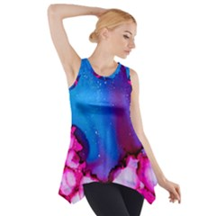 Abstract Detail Art Texture Side Drop Tank Tunic