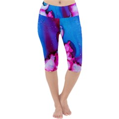 Abstract Detail Art Texture Lightweight Velour Cropped Yoga Leggings