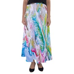 Art Abstract Abstract Art Flared Maxi Skirt