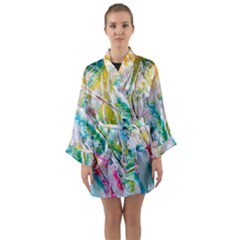 Art Abstract Abstract Art Long Sleeve Kimono Robe