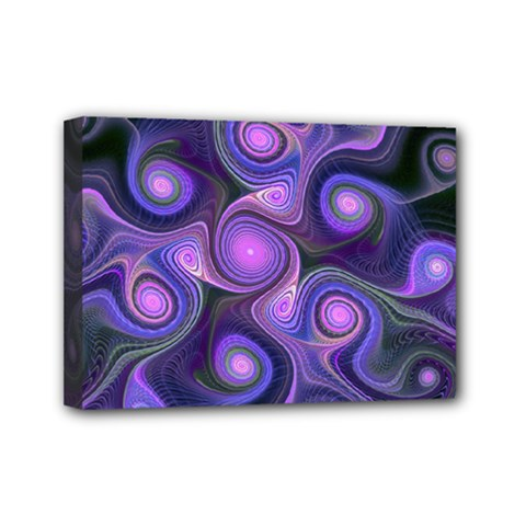 Abstract Pattern Fractal Wallpaper Mini Canvas 7  X 5  (stretched)