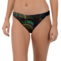 Fractal Threads Colorful Pattern Band Bikini Bottom