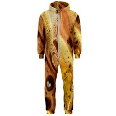 Abstract Art Modern Detail Macro Hooded Jumpsuit (men)
