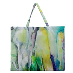 Art Abstract Modern Abstract Zipper Large Tote Bag