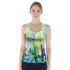 Art Abstract Modern Abstract Racer Back Sports Top